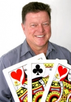 Dave Upfold with cards